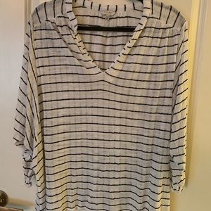 Lucky brand drop shoulder striped top